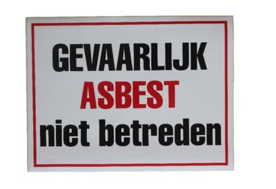 Sticker gevaarlijk asbest